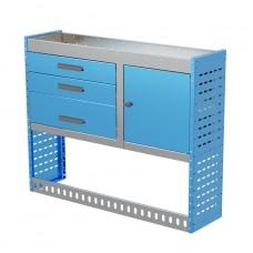 Van Shelving Unit 1000h x 1250w x 335d 3 Drawer Unit With Cabinet