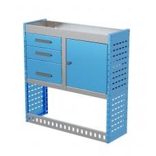 Van Shelving Unit 1000h x 1000w x 335d 3 Drawer Unit With Cabinet