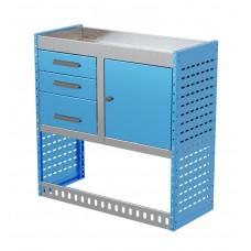 Van Shelving Unit 1000h x 1000w x 435d 3 Drawer Unit With Cabinet