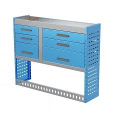 Van Shelving Unit 1000h x 1250w x 335d 6 Drawer