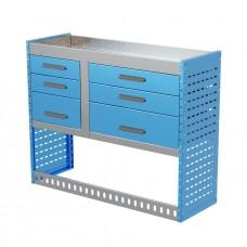 Van Shelving Unit 1000h x 1250w x 435d 6 Drawer