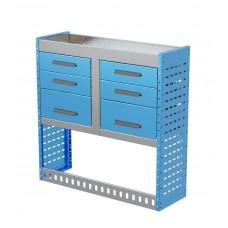 Van Shelving Unit 1000h x 1000w x 335d 6 Drawer