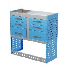Van Shelving Unit 1000h x 1000w x 435d 6 Drawer