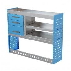 Van Shelving Unit 1000h x 1250w x 335d 3 Drawer Unit With 2 Shelves