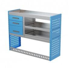 Van Shelving Unit 1000h x 1250w x 435d 3 Drawer Unit With 2 Shelves