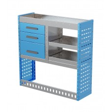 Van Shelving Unit 1000h x 1000w x 335d 3 Drawer Unit With 2 Shelves