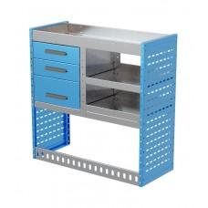 Van Shelving Unit 1000h x 1000w x 435d 3 Drawer Unit With 2 Shelves