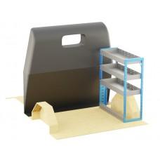 Adjustable Shelf (OFFSIDE) Transit Custom Crew Cab SWB Racking System