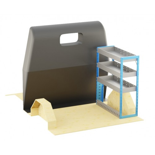 Adjustable Shelf (OFFSIDE) Transit Custom Crew Cab SWB Racking System