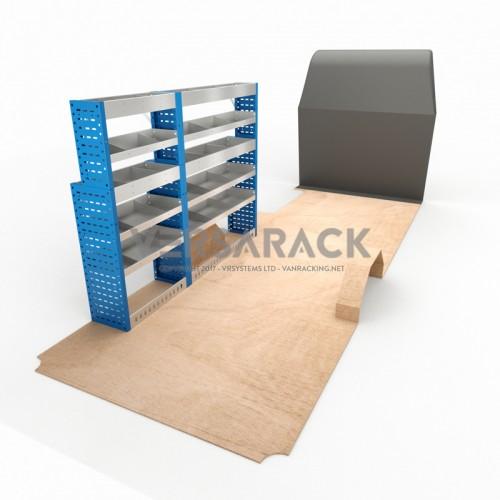Adjustable Shelf (Nearside) Sprinter LWB Racking System
