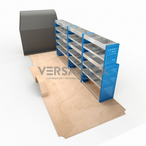 Adjustable Shelf (Offside) Sprinter LWB Racking System