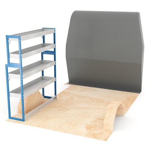 Adjustable Shelf (Nearside) Sprinter SWB Racking System