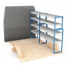 Adjustable Shelf (Offside) Sprinter SWB Racking System
