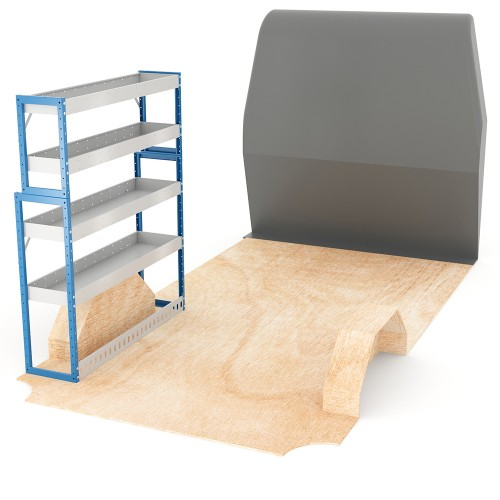 Adjustable Shelf (Nearside) Sprinter MWB Racking System
