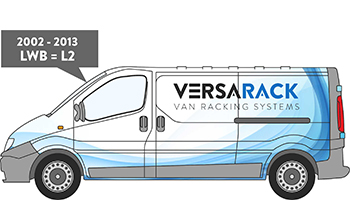 Trafic LWB Van Racking 2002-2013