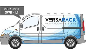 Trafic SWB Van Racking 2002-2013