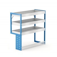 Van Shelving Unit 1000h x 1000w x 435d 3 Shelf LH Recessed Leg