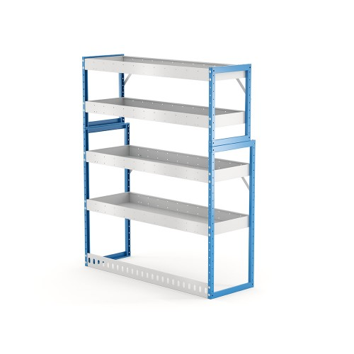 Van Shelving Unit 1500h x 1250w x 435/335d 4 shelf