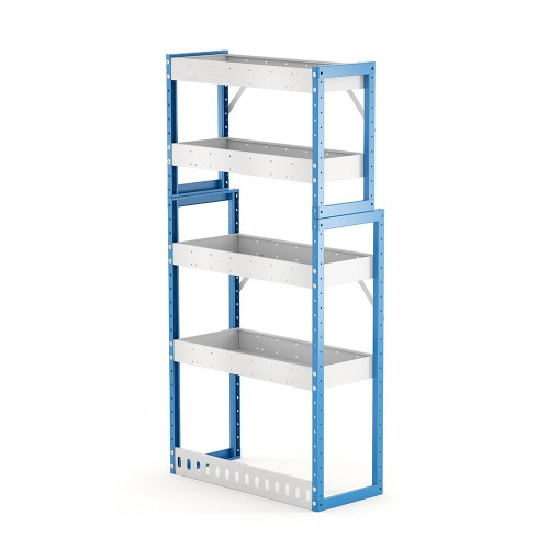 Van Shelving Unit 1500h x 750w x 335/235d 4 shelf