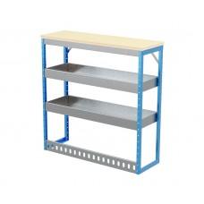 Van Shelving Unit 1030h x 1000w x 335d 2 Shelf Workbench 25mm Oiled Worktop