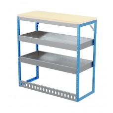 Van Shelving Unit 1030h x 1000w x 435d 2 Shelf Workbench 25mm Oiled Worktop