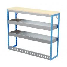 Van Shelving Unit 1030h x 1250w x 335d 2 Shelf Workbench 25mm Oiled Worktop