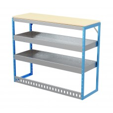 Van Shelving Unit 1030h x 1250w x 435d 2 Shelf Workbench 25mm Oiled Worktop