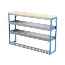 Van Shelving Unit 1030h x 1500w x 335d 2 Shelf Workbench 25mm Oiled Worktop