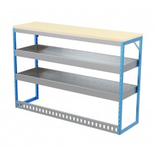 Van Shelving Unit 1030h x 1500w x 435d 2 Shelf Workbench 25mm Oiled Worktop