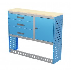 Van Shelving Unit 1030h x 1250w x 335d 3 Drawer Unit With Cabinet