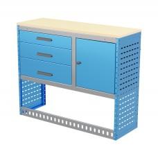 Van Shelving Unit 1030h x 1250w x 435d 3 Drawer Unit With Cabinet