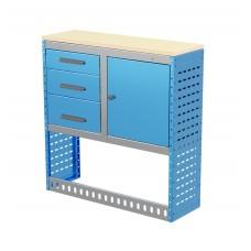 Van Shelving Unit 1030h x 1000w x 335d 3 Drawer Unit With Cabinet
