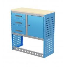 Van Shelving Unit 1030h x 1000w x 435d 3 Drawer Unit With Cabinet