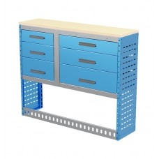 Van Shelving Unit 1030h x 1250w x 335d Workbench with 6 Drawer