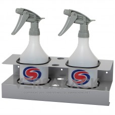 Spray bottle holder (up to 90mm) for 2 bottles.
