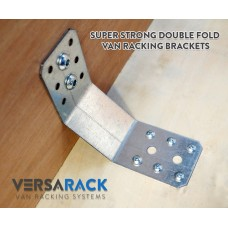 8 X Van Racking Brackets Double Fold