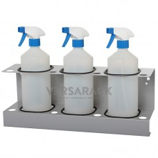 Spray bottle holder (up to 85mm) for 3 bottles.